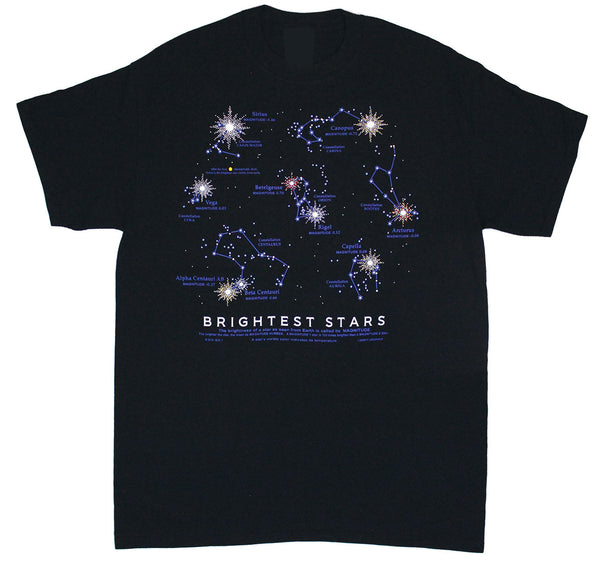 Brightest Stars Adult Black T-shirt