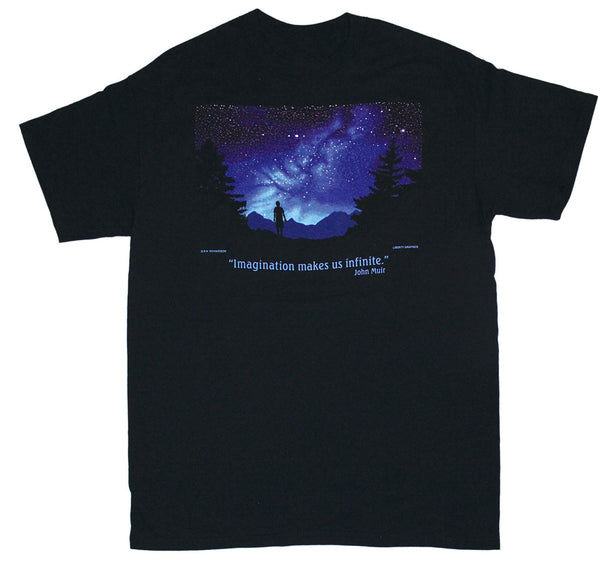 Muir Imagination Black Adult T-shirt