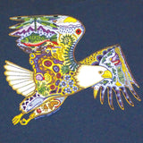 Earth Art Bald Eagle Adult Dusk Blue T-shirt