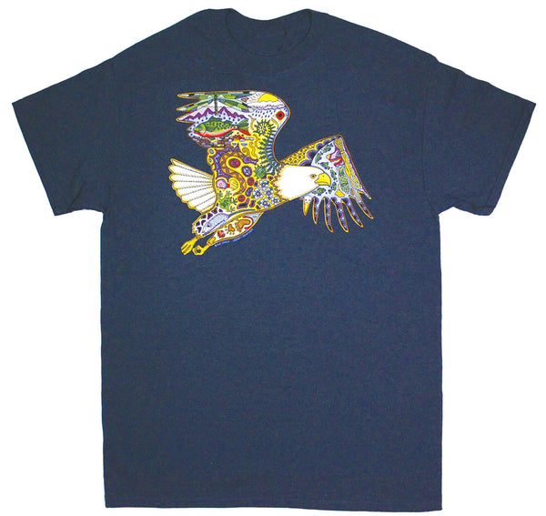 Earth Art Bald Eagle Adult T-shirt