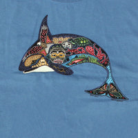 Earth Art Orca Adult Denim T-shirt