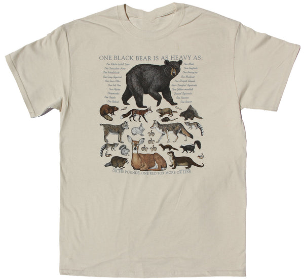 One Black Bear is... Adult Natural T-shirt