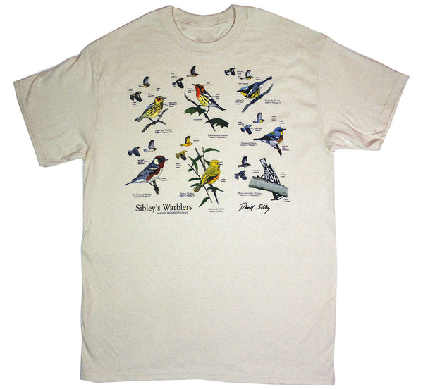 David Sibley's Warblers Adult Natural T-shirt