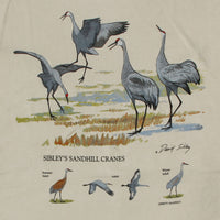David Sibley's Sand Hill Cranes Adult Natural T-shirt