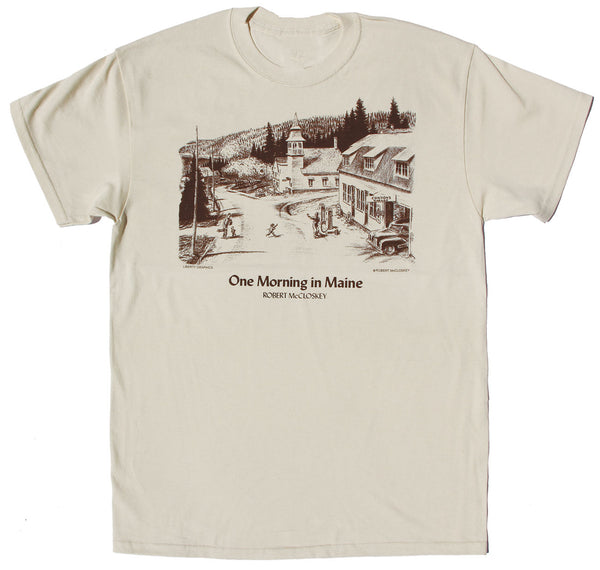 Robert McCloskey's One Morning in Maine- Condon's Garage Adult  Natural T-shirt