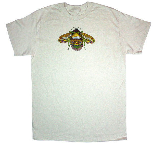 Earth Art Bee Adult Natural T-shirt