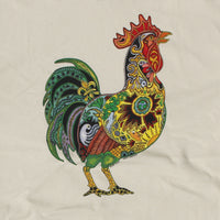 Earth Art Rooster Adult Natural T-shirt