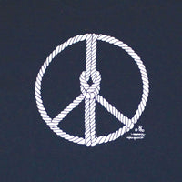 Peace Knot Adult Navy T-shirt