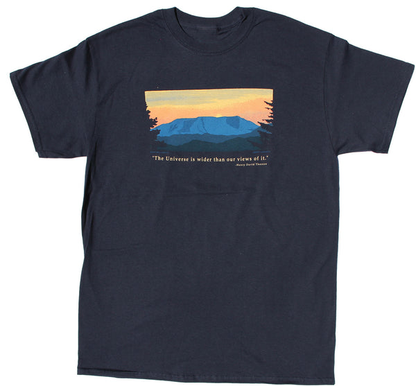 Thoreau Mountains Adult Navy T-shirt