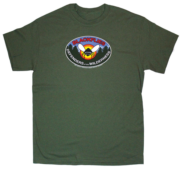 Blackfly Badge Adult Olive Green T-shirt