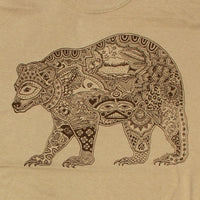Earth Art Bear Adult Sand T-shirt