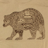 Earth Art Bear Adult T-shirt