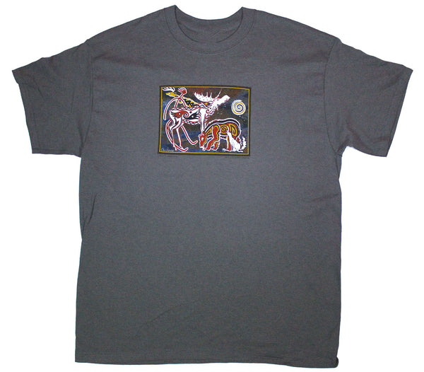 Milton's Moose Adult Charcoal T-shirt