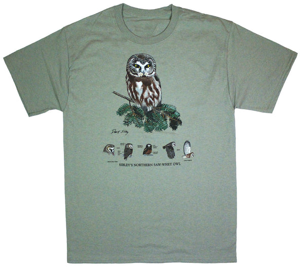 David Sibley's Saw-whet Owl Adult T-shirt