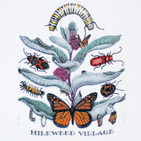 Milkweed Village Adult White T-shirt