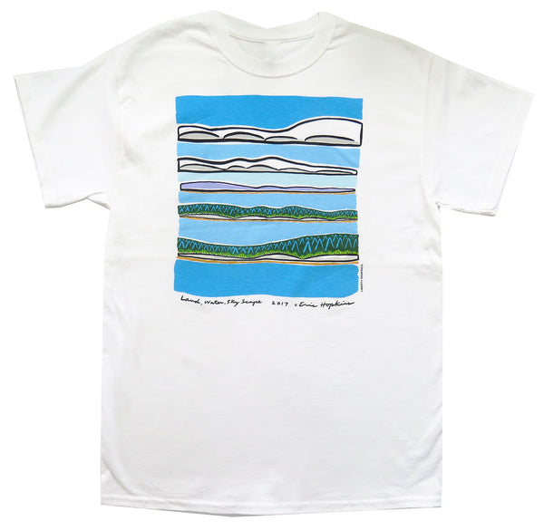 Hopkins Landscape Adult White T-shirt