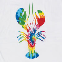 Tideyed Lobster Adult White T-shirt
