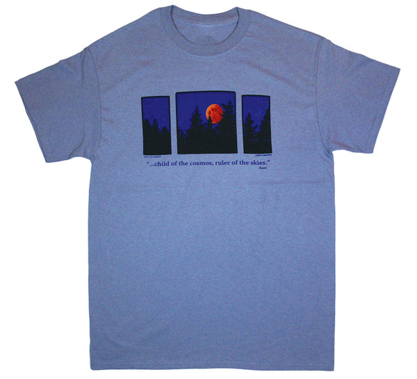Moon Triptych Adult T-shirt