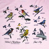 David Sibley's Warblers Ladies Frost Pink T-shirt