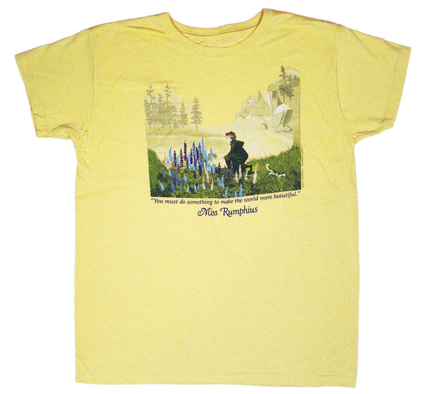 Miss Rumphius Ladies Yellow T-shirt