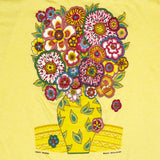 Yellow Flowers LAT Ladies Fitted T-shirt