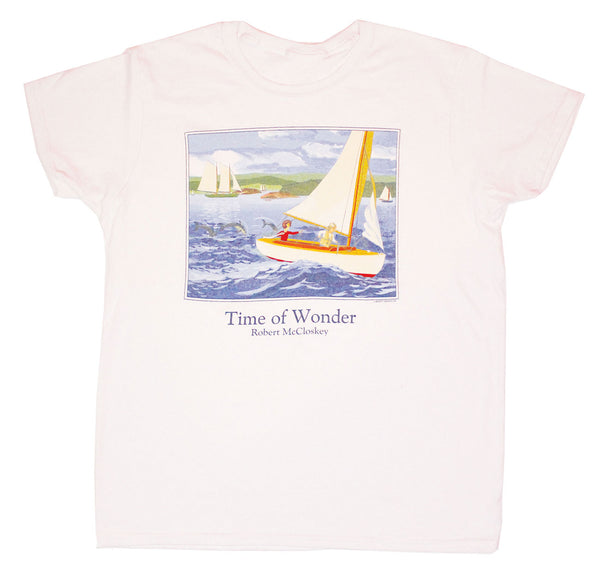 Robert McCloskey Time of Wonder – Sailboat Ladies T-shirt