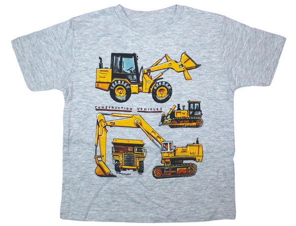 Construction Vehicles Toddler Heather T-shirt