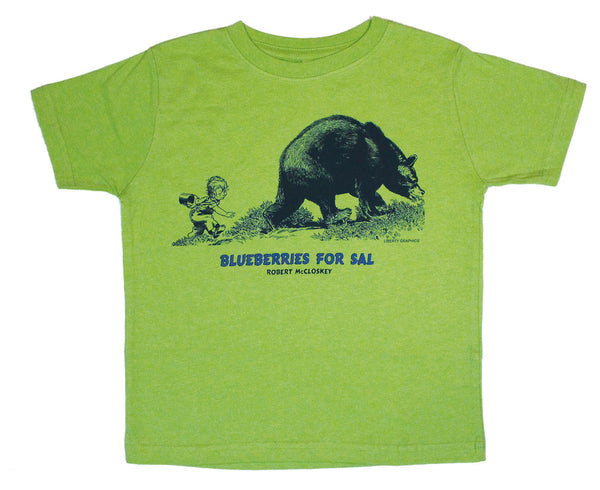 Robert McCloskey's Blueberries for Sal – Bear Toddler Key Lime T-shirt