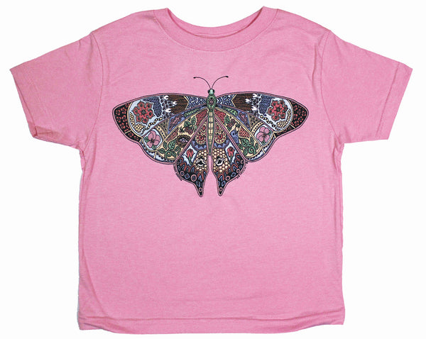 Earth Art Butterfly Toddler Light Pink T-shirt