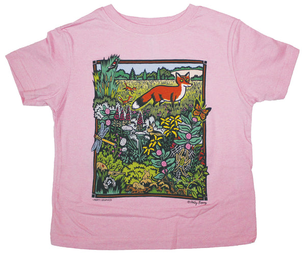 Meadow Scene Toddler T-shirt Light Pink