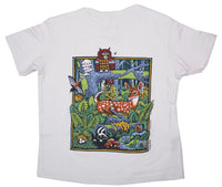 Forest Scene Toddler White T-shirt