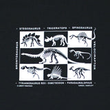 Dinosaur Skeletons Youth Black T-shirt