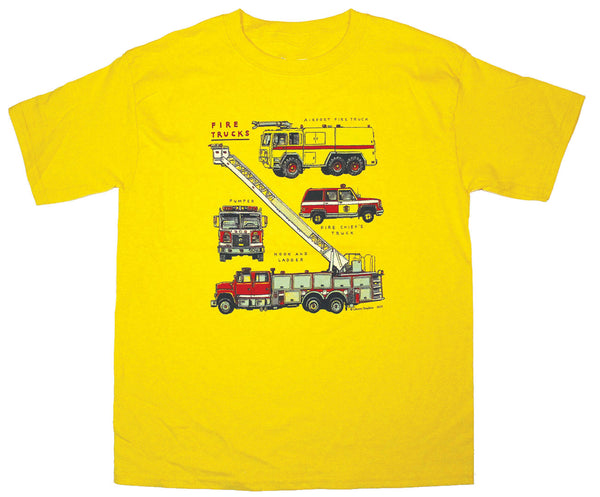 Firetrucks Youth Daisy T-shirt