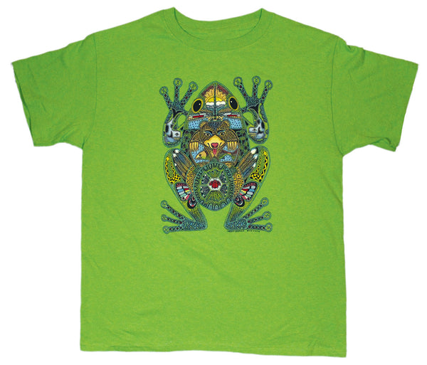 Earth Art Frog Youth Key Lime T-shirt