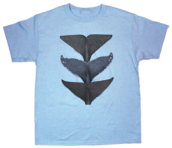 Whale Tails Youth Light Blue T-shirt