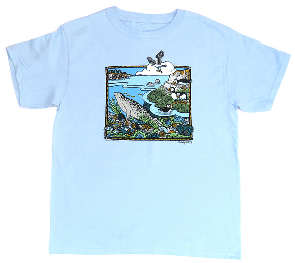 Shore Scene Youth Light Blue T-shirt
