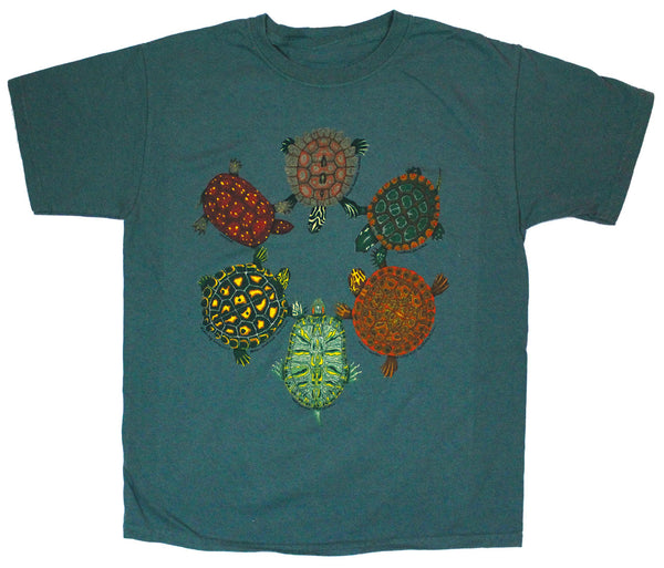 Turtle Circle Youth Leaf T-shirt