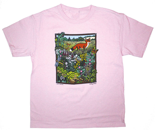Meadow Scene Youth T-shirt Frost Pink