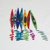 Kayak Reflections Youth White T-shirt
