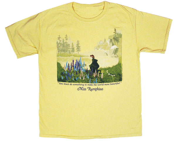 Miss Rumphius Youth Yellow T-shirt