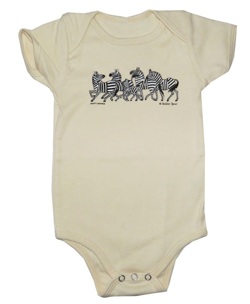 Dahlov Ipcar's Little Zebras Organic Infant Natural One-piece