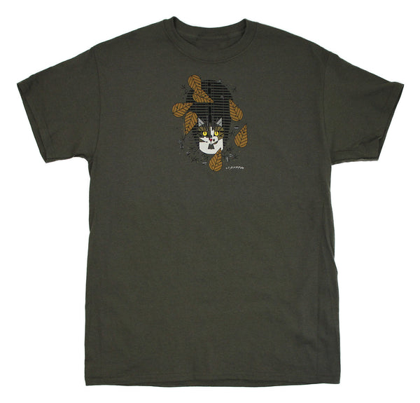 Charley Harper's Birdwatcher Adult Nut Brown T-shirt