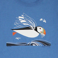 Charley Harper's The Name Is Puffin Adult Denim T-shirt
