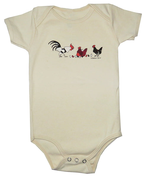 Dahlov Ipcar's Little Chickens Organic Infant Natural One-piece