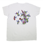 Hummingbirds Of North America Ladies White T-shirt