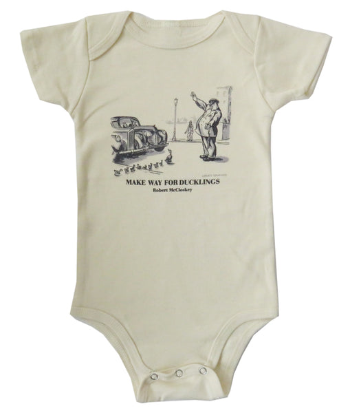 Robert McCloskey Make Way For Ducklings- Officer Organic Infant Natural One-piece