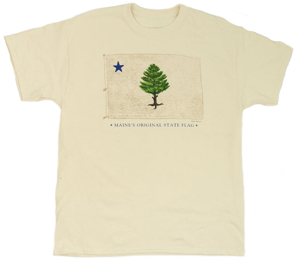 Original Maine State Flag Natural T-shirt