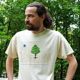 Original Maine State Flag Organic Cotton Natural T-shirt
