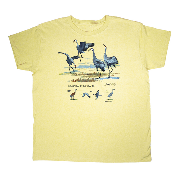Sibley's Sandhill Cranes Ladies Yellow Haze T-shirt