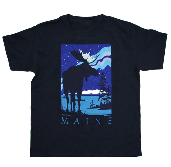 Starlight Moose Youth Navy T-shirt
